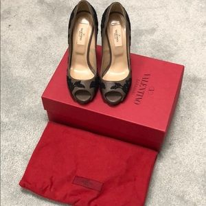 Valentino open toe stilettos